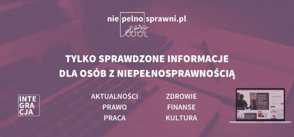 Grafika z logo portalu Niepelnosprawni.pl i napisem